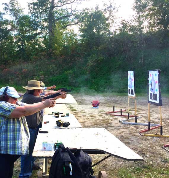 home defense handgun range